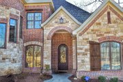 European Style House Plan - 4 Beds 3.5 Baths 3083 Sq/Ft Plan #17-2499 Exterior - Front Elevation
