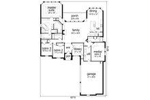 European Floor Plan - Main Floor Plan Plan #84-608