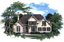 Home Plan - European Exterior - Front Elevation Plan #41-149