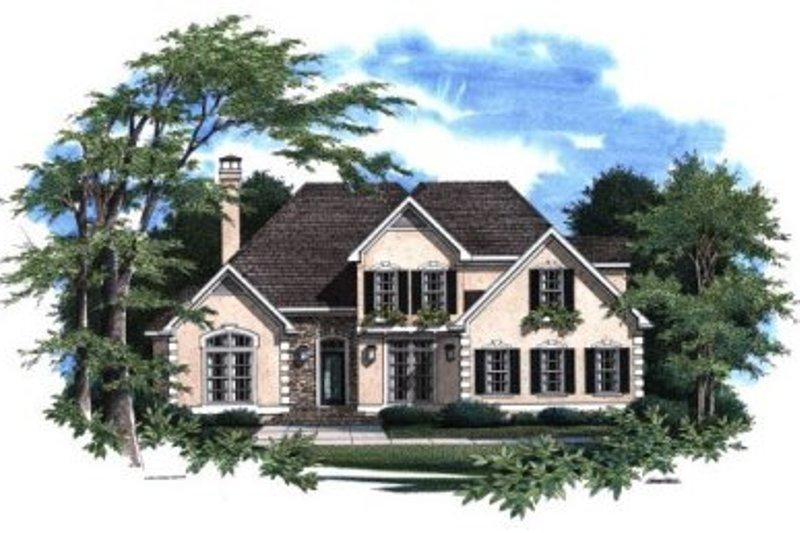 Home Plan - European Exterior - Front Elevation Plan #41-149