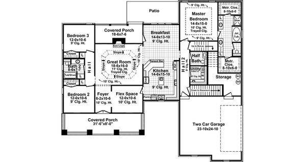 Country Floor Plan - Main Floor Plan Plan #21-375