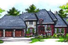 European Exterior - Front Elevation Plan #70-730