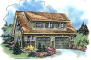 Bungalow Style House Plan - 1 Beds 1 Baths 624 Sq/Ft Plan #18-4502 Exterior - Front Elevation