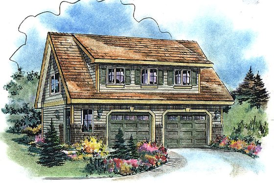 Bungalow Exterior - Front Elevation Plan #18-4502
