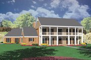 Southern Style House Plan - 3 Beds 4 Baths 3495 Sq/Ft Plan #36-236 Exterior - Front Elevation