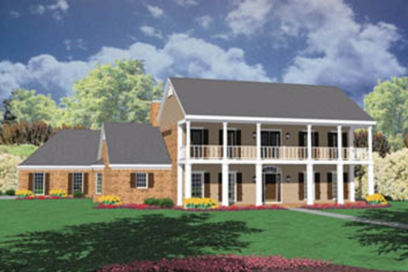 Southern Exterior - Front Elevation Plan #36-236