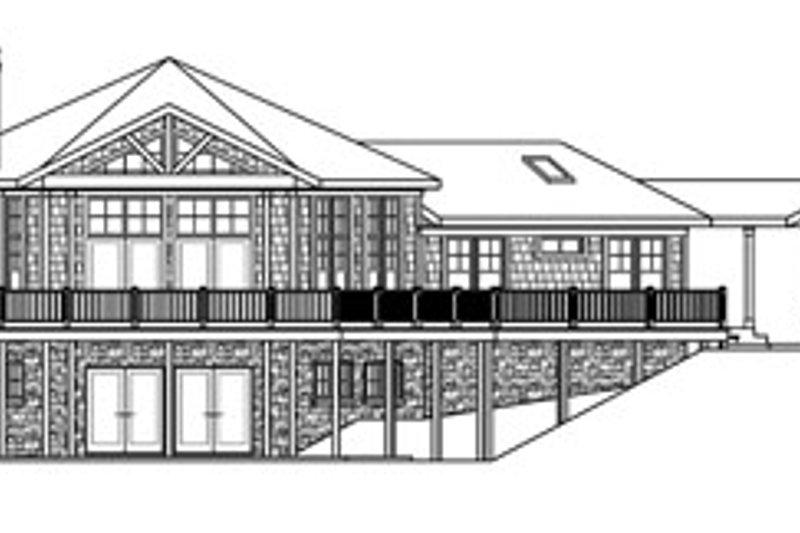Ranch Exterior - Rear Elevation Plan #124-728 - Houseplans.com