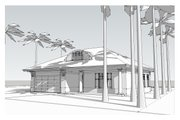 Beach Style House Plan - 3 Beds 2.5 Baths 2135 Sq/Ft Plan #481-4 Exterior - Front Elevation
