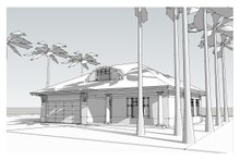Beach Exterior - Front Elevation Plan #481-4