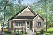 Country Style House Plan - 2 Beds 1 Baths 953 Sq/Ft Plan #25-4533 Exterior - Front Elevation