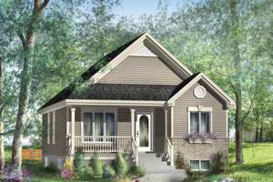 Country Exterior - Front Elevation Plan #25-4533