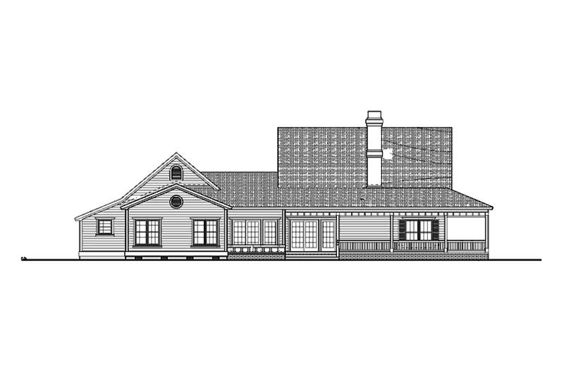Farmhouse Exterior - Other Elevation Plan #72-132 - Houseplans.com