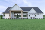 Contemporary Style House Plan - 3 Beds 3.5 Baths 2489 Sq/Ft Plan #1070-86 Exterior - Rear Elevation