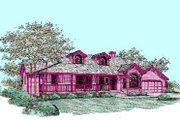 Traditional Style House Plan - 4 Beds 3 Baths 2418 Sq/Ft Plan #60-271 Exterior - Front Elevation