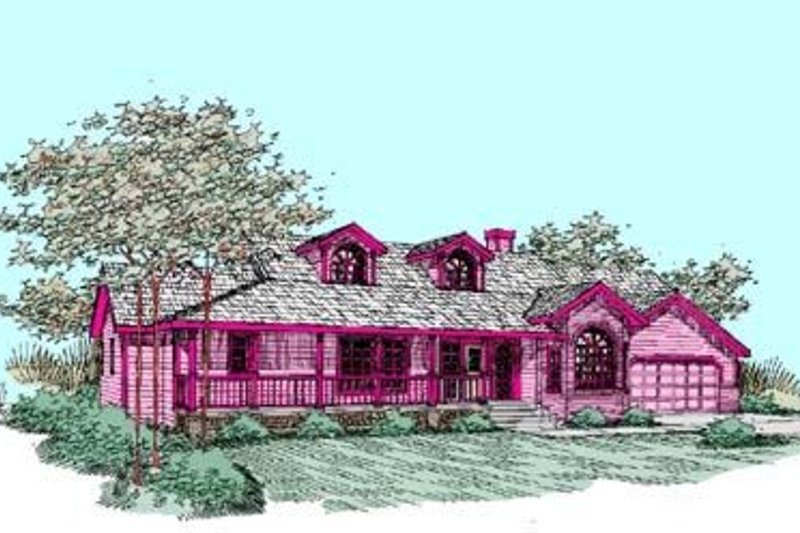 Traditional Exterior - Front Elevation Plan #60-271 - Houseplans.com