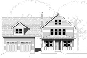 Country Exterior - Front Elevation Plan #423-37