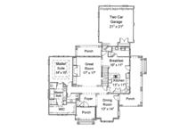 Country Floor Plan - Main Floor Plan Plan #429-258
