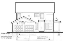 Traditional Exterior - Rear Elevation Plan #1053-53