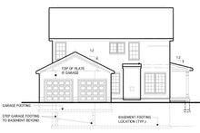 House Plan Design - Traditional Exterior - Rear Elevation Plan #1053-53