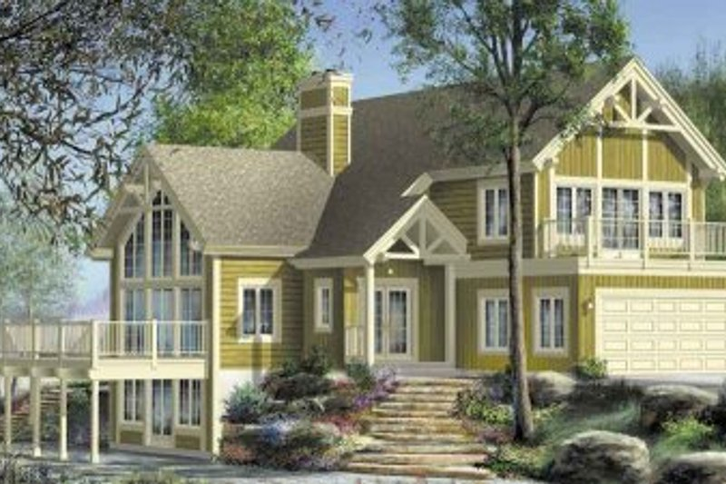 Country Style House Plan - 3 Beds 1.5 Baths 2901 Sq/Ft Plan #25-4194 Exterior - Front Elevation