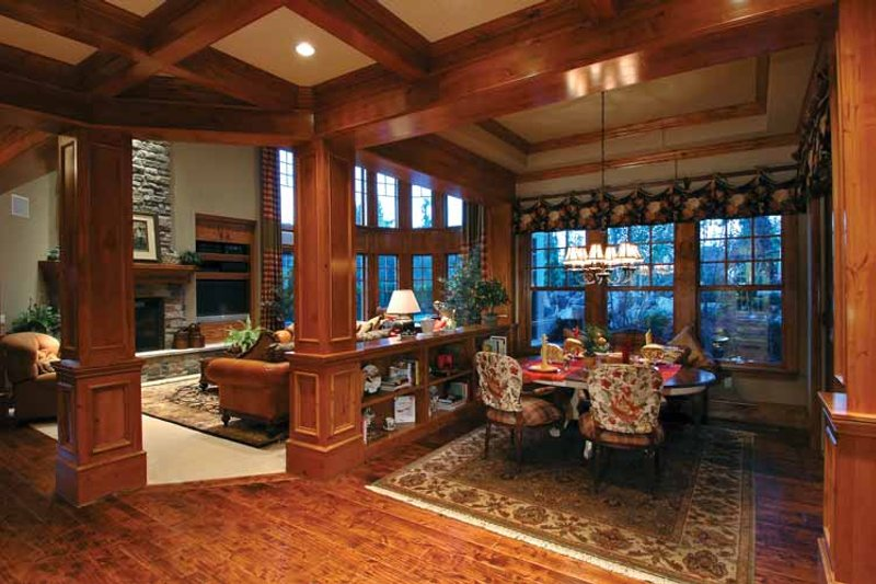 Craftsman Interior - Family Room Plan #132-353 - Houseplans.com
