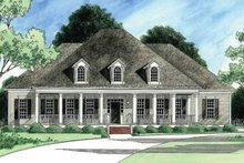 Southern Exterior - Front Elevation Plan #1054-13
