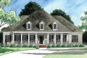 House Design - Southern Exterior - Front Elevation Plan #1054-13