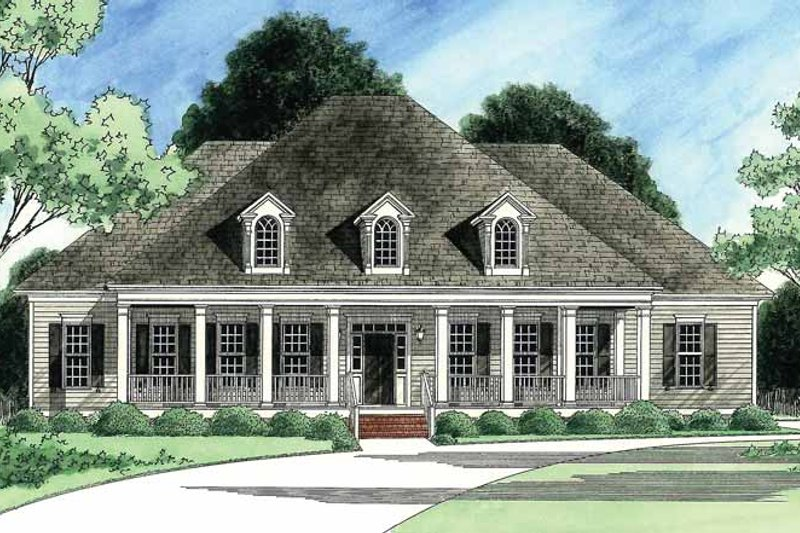 Country Exterior - Front Elevation Plan #1054-13 - Houseplans.com