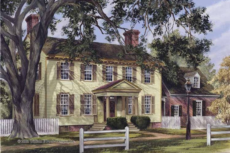 House Plan Design - Colonial Exterior - Front Elevation Plan #137-349