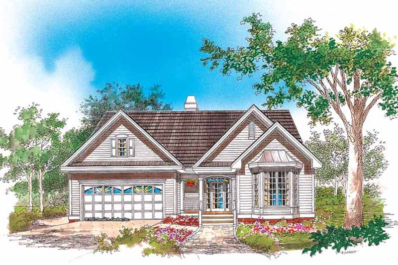 Ranch Exterior - Front Elevation Plan #929-621