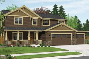 Craftsman Exterior - Front Elevation Plan #943-28