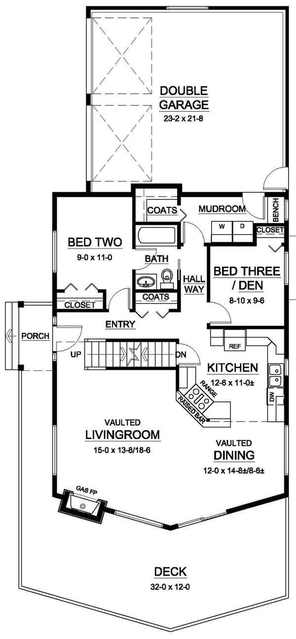 Home Plan - Cabin Floor Plan - Main Floor Plan #126-191