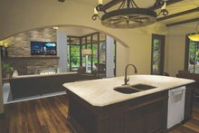 Cottage Interior - Kitchen Plan #120-244