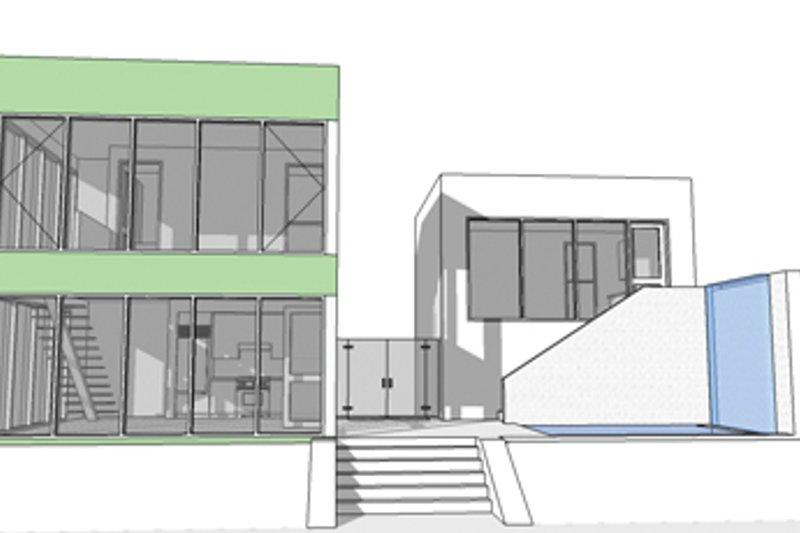Contemporary Exterior - Rear Elevation Plan #64-313 - Houseplans.com