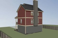 Dream House Plan - Traditional Exterior - Rear Elevation Plan #79-145