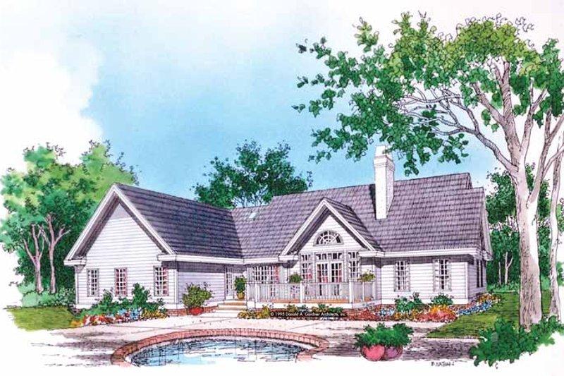 Country Exterior - Rear Elevation Plan #929-600 - Houseplans.com