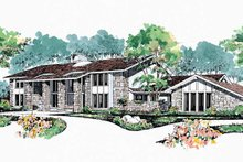 Architectural House Design - Contemporary Exterior - Front Elevation Plan #72-872
