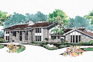 House Blueprint - Contemporary Exterior - Front Elevation Plan #72-872