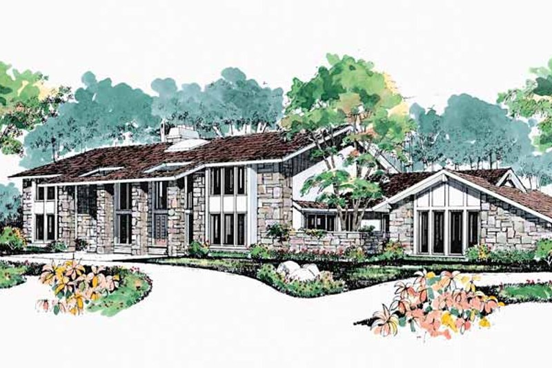 House Blueprint - Contemporary Exterior - Front Elevation Plan #72-872
