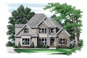Architectural House Design - Traditional Exterior - Front Elevation Plan #927-557