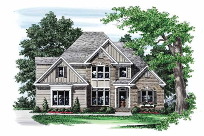 Traditional Exterior - Front Elevation Plan #927-557 - Houseplans.com