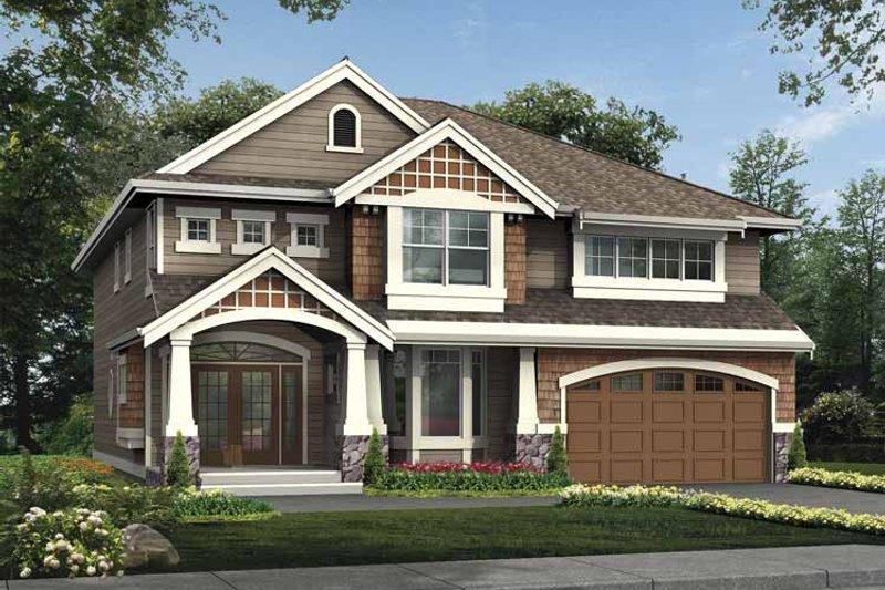 Craftsman Exterior - Front Elevation Plan #132-396 - Houseplans.com