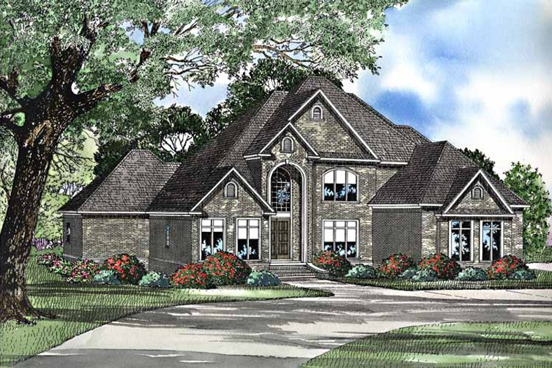 Traditional Exterior - Front Elevation Plan #17-3222 - Houseplans.com