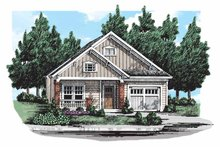 Craftsman Exterior - Front Elevation Plan #927-303
