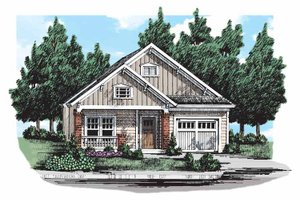 Craftsman Exterior - Front Elevation Plan #927-303