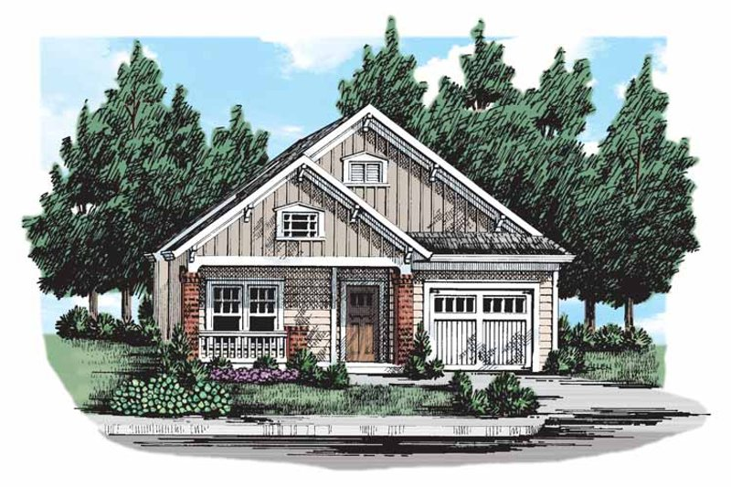 House Design - Craftsman Exterior - Front Elevation Plan #927-303