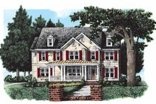 Country Exterior - Front Elevation Plan #927-167