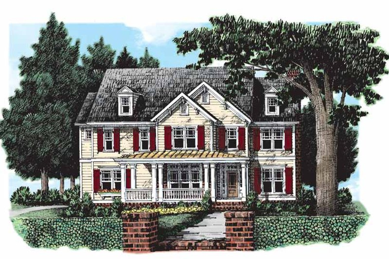 House Design - Country Exterior - Front Elevation Plan #927-167