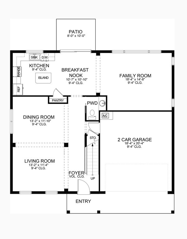 Dream House Plan - Traditional Floor Plan - Main Floor Plan #1058-201
