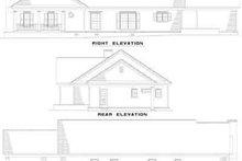 House Plan Design - Traditional Exterior - Rear Elevation Plan #17-142